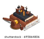 law justice isometric... | Shutterstock .eps vector #695864806