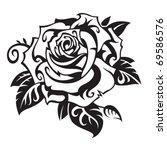 rose | Shutterstock .eps vector #69586576
