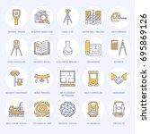 geodetic survey engineering...   Shutterstock .eps vector #695869126