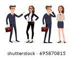 raster copy business people... | Shutterstock . vector #695870815