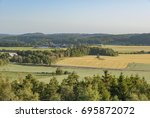 farms and fields in rural sweden | Shutterstock . vector #695872072