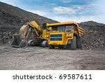 picture of a large mining... | Shutterstock . vector #69587611