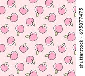 cute seamless pattern with...   Shutterstock .eps vector #695877475