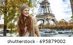 autumn getaways in paris....   Shutterstock . vector #695879002