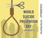 world suicide prevention day ... | Shutterstock .eps vector #695880502
