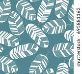 seamless pattern with white... | Shutterstock .eps vector #695881162