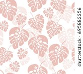 summer seamless pattern with... | Shutterstock .eps vector #695882356