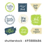 eco templates with hand... | Shutterstock .eps vector #695888686