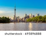 toronto city skyline from... | Shutterstock . vector #695896888
