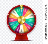 colorful wheel of fortune.... | Shutterstock .eps vector #695902576