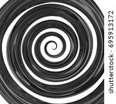 abstract black glossy 3d swirl... | Shutterstock . vector #695913172