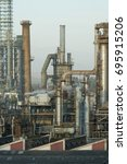 Small photo of oil refinery - detail