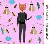 the pattern of arrows  teepee ...   Shutterstock .eps vector #695916436