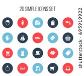 set of 20 editable business...