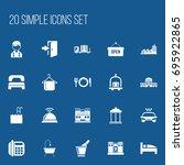 set of 20 editable plaza icons. ...