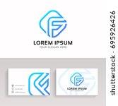 clean letter f logo...   Shutterstock .eps vector #695926426