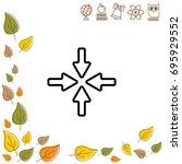 web line icon. four arrows   Shutterstock .eps vector #695929552