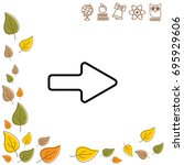 web line icon. arrow right   Shutterstock .eps vector #695929606