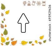 web line icon. arrow up   Shutterstock .eps vector #695929636