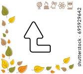 web line icon. arrow left up   Shutterstock .eps vector #695929642