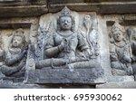 details of reliefs in prambanan ...   Shutterstock . vector #695930062