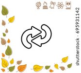 web line icon. circular arrows   Shutterstock .eps vector #695931142