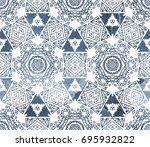ethnic design. striped... | Shutterstock . vector #695932822