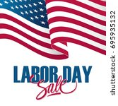 labor day sale special offer... | Shutterstock .eps vector #695935132
