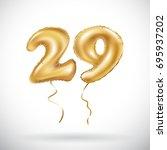 vector golden number 29 twenty... | Shutterstock .eps vector #695937202
