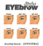 make up information chart... | Shutterstock .eps vector #695939842
