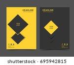 modern technology brochure... | Shutterstock .eps vector #695942815