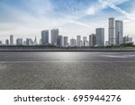 panoramic skyline and buildings ... | Shutterstock . vector #695944276