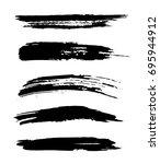 set of vector black hand... | Shutterstock .eps vector #695944912