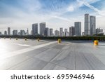 panoramic skyline and buildings ... | Shutterstock . vector #695946946