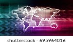 financial system or a software... | Shutterstock . vector #695964016