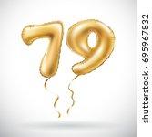 vector golden number 79 seventy ... | Shutterstock .eps vector #695967832
