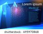 abstract health medical science ... | Shutterstock .eps vector #695970868
