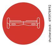 line art style gyroscope icon.... | Shutterstock .eps vector #695978992