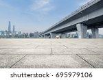 inner city highway in china. | Shutterstock . vector #695979106