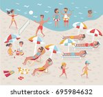 vector cartoon illustration... | Shutterstock .eps vector #695984632