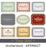ornate vintage labels | Shutterstock .eps vector #69598627