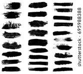 paint brush strokes  black...   Shutterstock .eps vector #695988388