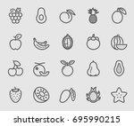 fruit line icon | Shutterstock .eps vector #695990215