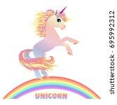 unicorn vector  illustration....   Shutterstock .eps vector #695992312