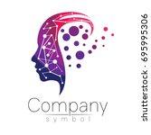vector symbol of human head.... | Shutterstock .eps vector #695995306