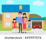 vector illustration of a... | Shutterstock .eps vector #695997076