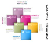 business infographics strategy... | Shutterstock .eps vector #696001096