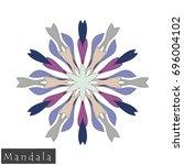 floral symmetrical geometrical... | Shutterstock .eps vector #696004102