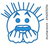 emoticon stuck in fear  scared... | Shutterstock .eps vector #696005056