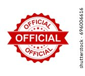 official grunge rubber stamp.... | Shutterstock .eps vector #696006616